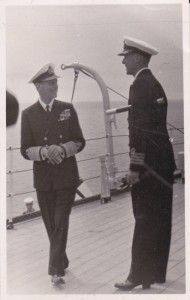 Captain Oliver Gordon, right, with King George VI