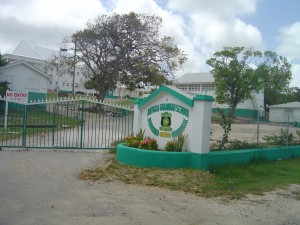 Antigua Grammar School - freshly painted in 2008
