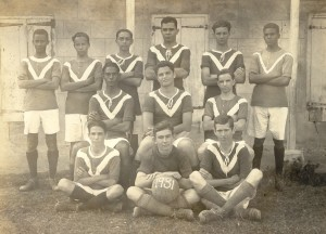 Oliver Nugent, front right, in the 1931 football team