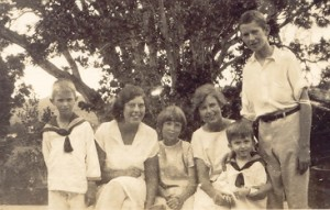 The children of George and Gladys Nugent from left: Osbern, Monica, Joyce, Peggy, Nicky and Oliver.