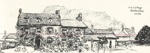 Muriel Foster's drawing of Ivy Cottage in 1930