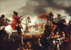 Battle of the Boyne in 1690