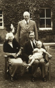 Kingsley, sitting, with daughter Patricia, father Osbern and grandmother, Constance