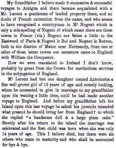 Robert Nugent-Dunbar writes to his son, Arthur, in 1844 describing the marriage beween Walter and Antoinetta.