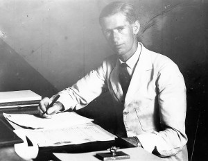 Oliver Nugent, lawyer, in St Kitts around 1940