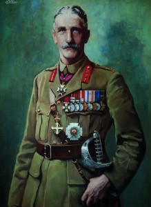This picture of Major General Sir Oliver Nugent hangs in Belfast City Hall